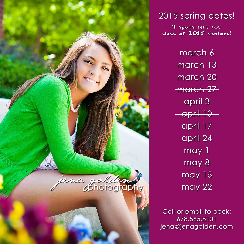 19e5a1a7105 2015 Spring Dates! Jena Golden Seniors, Atlanta Georgia Photographer,  Forsyth County