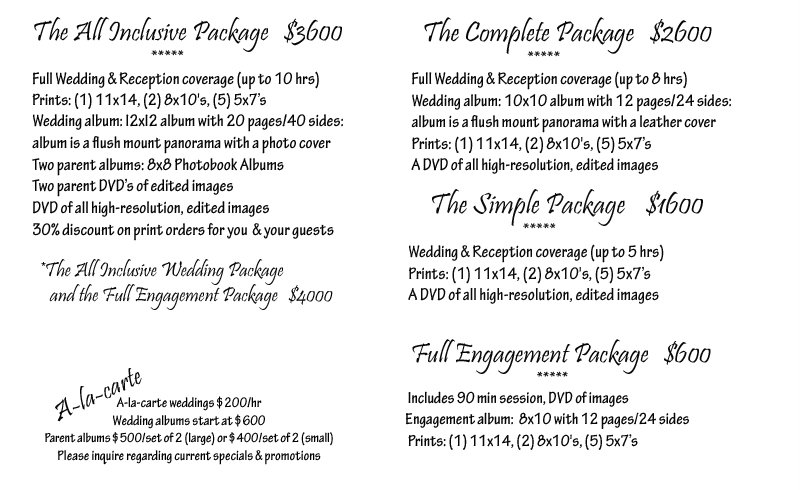 todd lawrence photography wedding packages