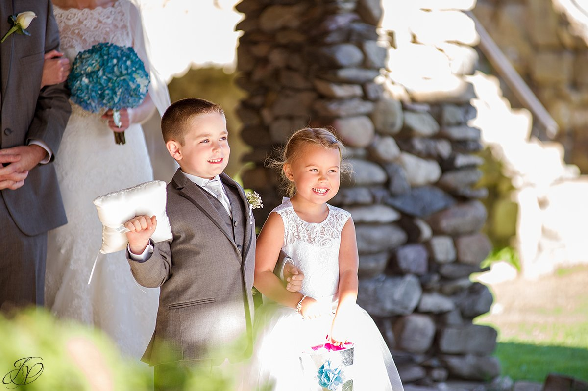 ring bearer and flower girl photo