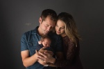 Colorful Studio Newborn Session for Sweet Baby Boy
