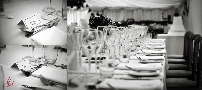 Wedding top table Nunsmere Hall