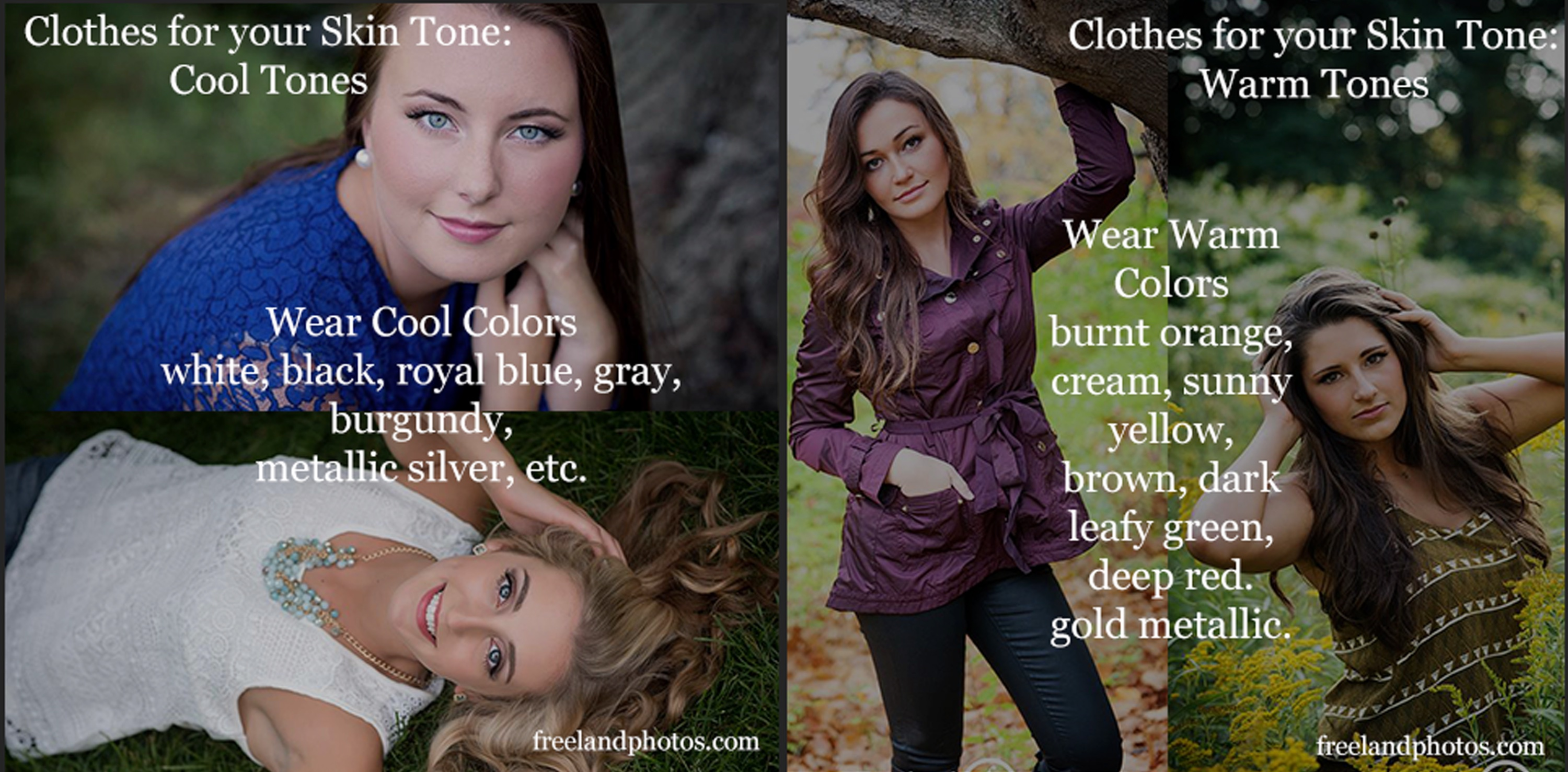 How to look best in your portraits- Choosing colors for your skin tone