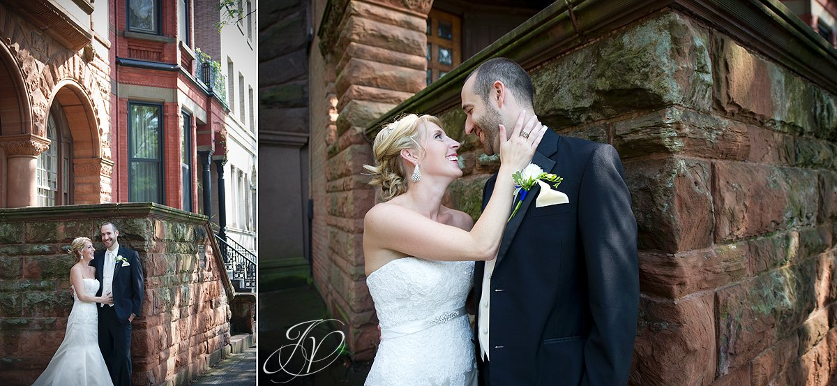 bride and groom photos, brownstone wedding portraits, Albany Wedding Photographer, bridal portrait photography