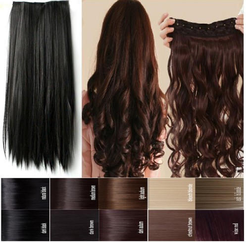 Full Head Human Hair Extensions