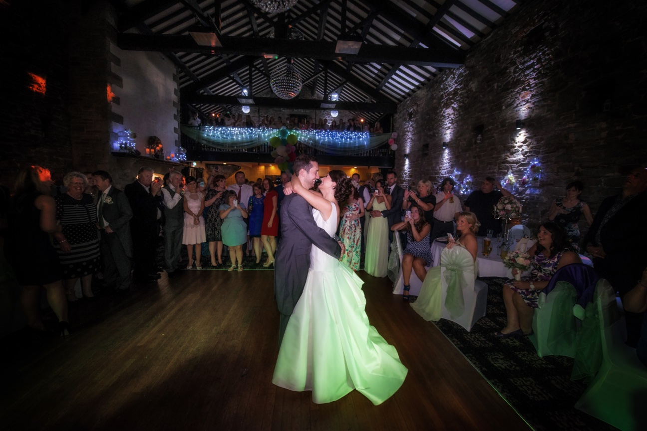 First dance shot, wide at Lancashire manor