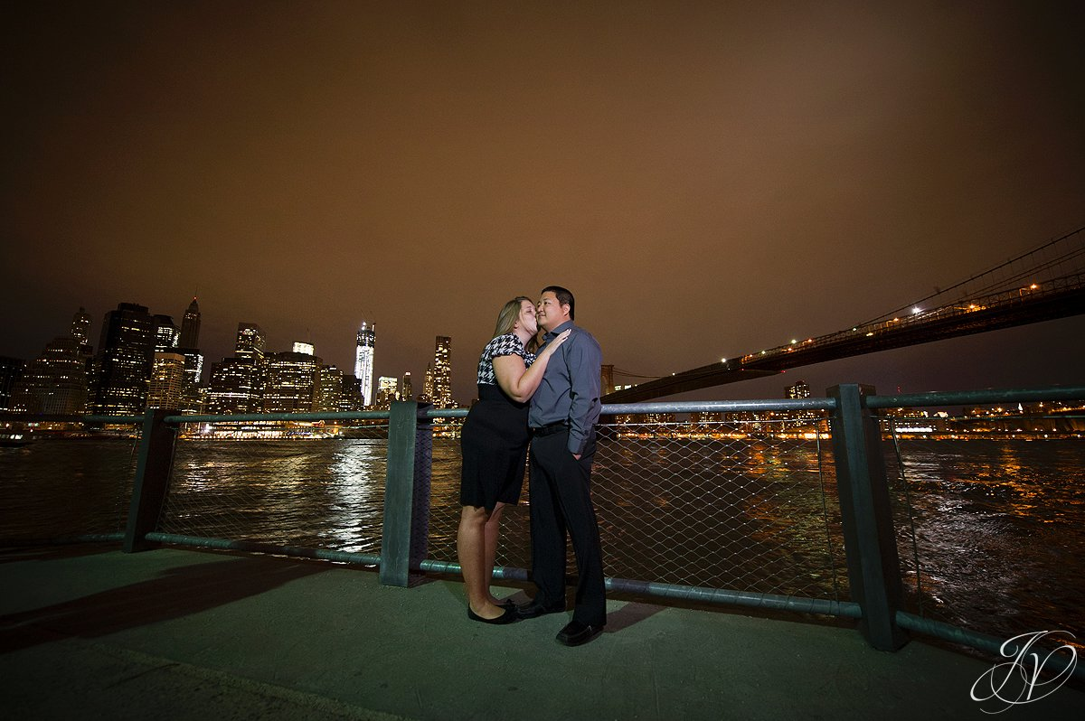 nyc skyline engagement photo, pier 1 brooklyn engagement photography, new york city wedding photographers, NYC Engagement Session, New York Photographer