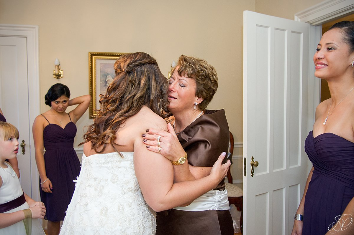 first look with mom albany wedding photographer