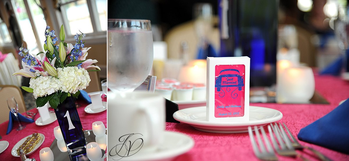 reception detail photos, Waters Edge Lighthouse, schenectady rose garden, Schenectady Wedding Photographer