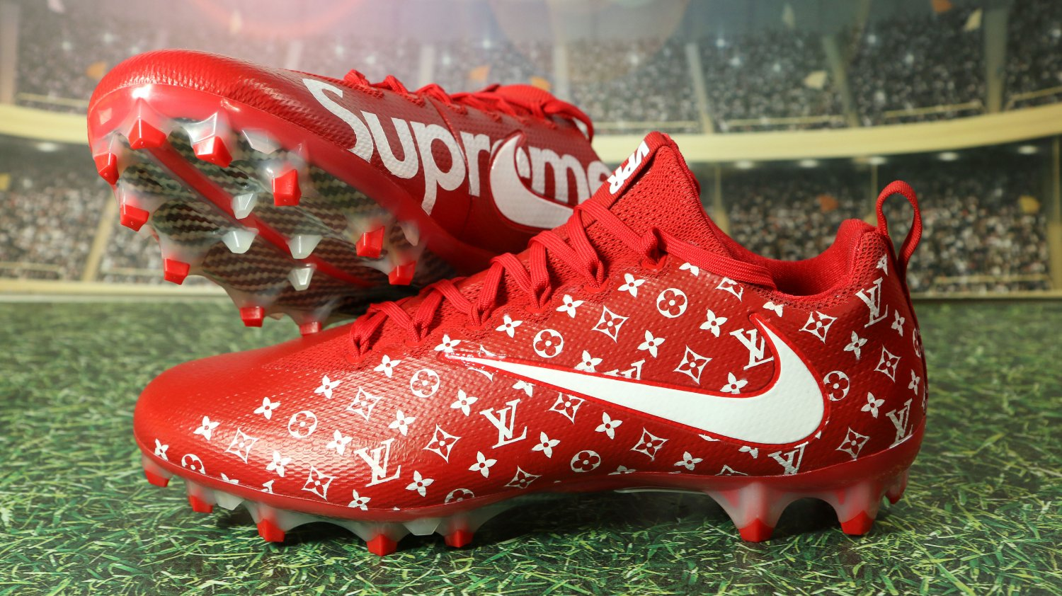 71fe2c30c049 Custom Supreme Cleats - John Blue