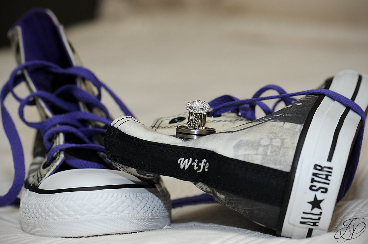 wedding rings with converse sneakers, jessica painter photography