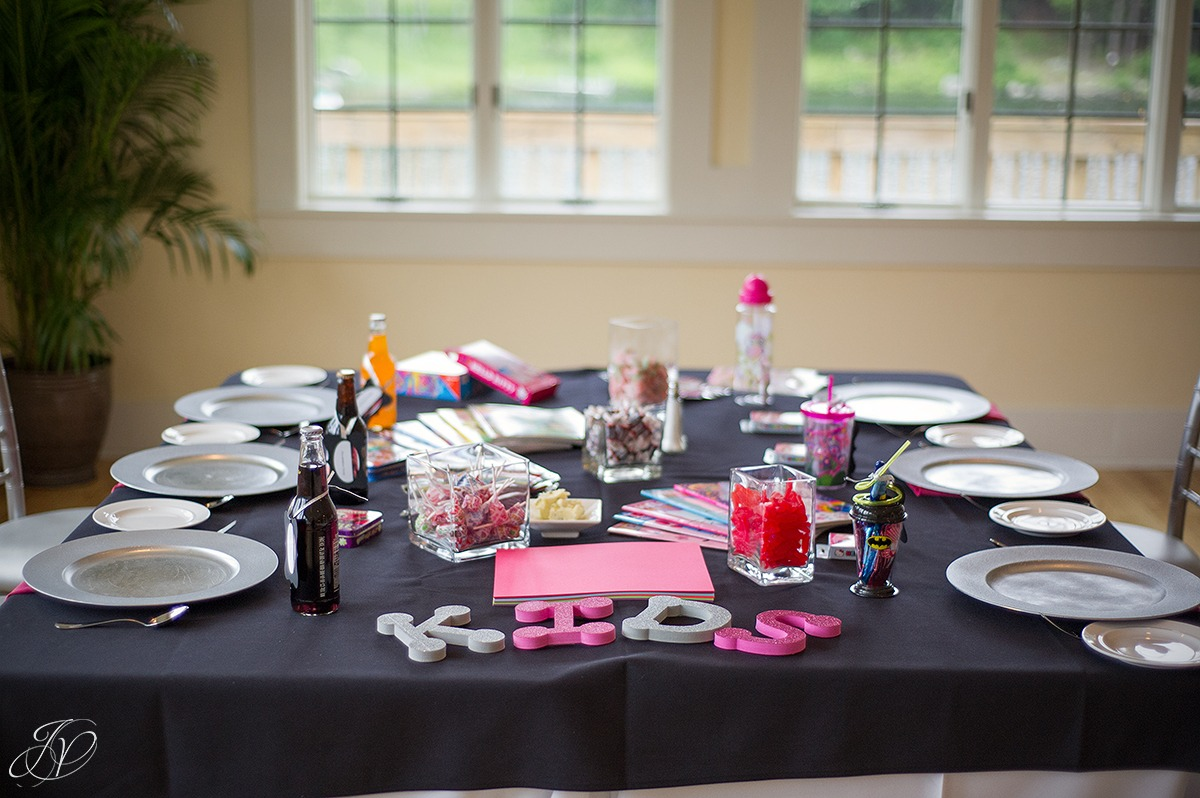 fun kids table at a wedding reception