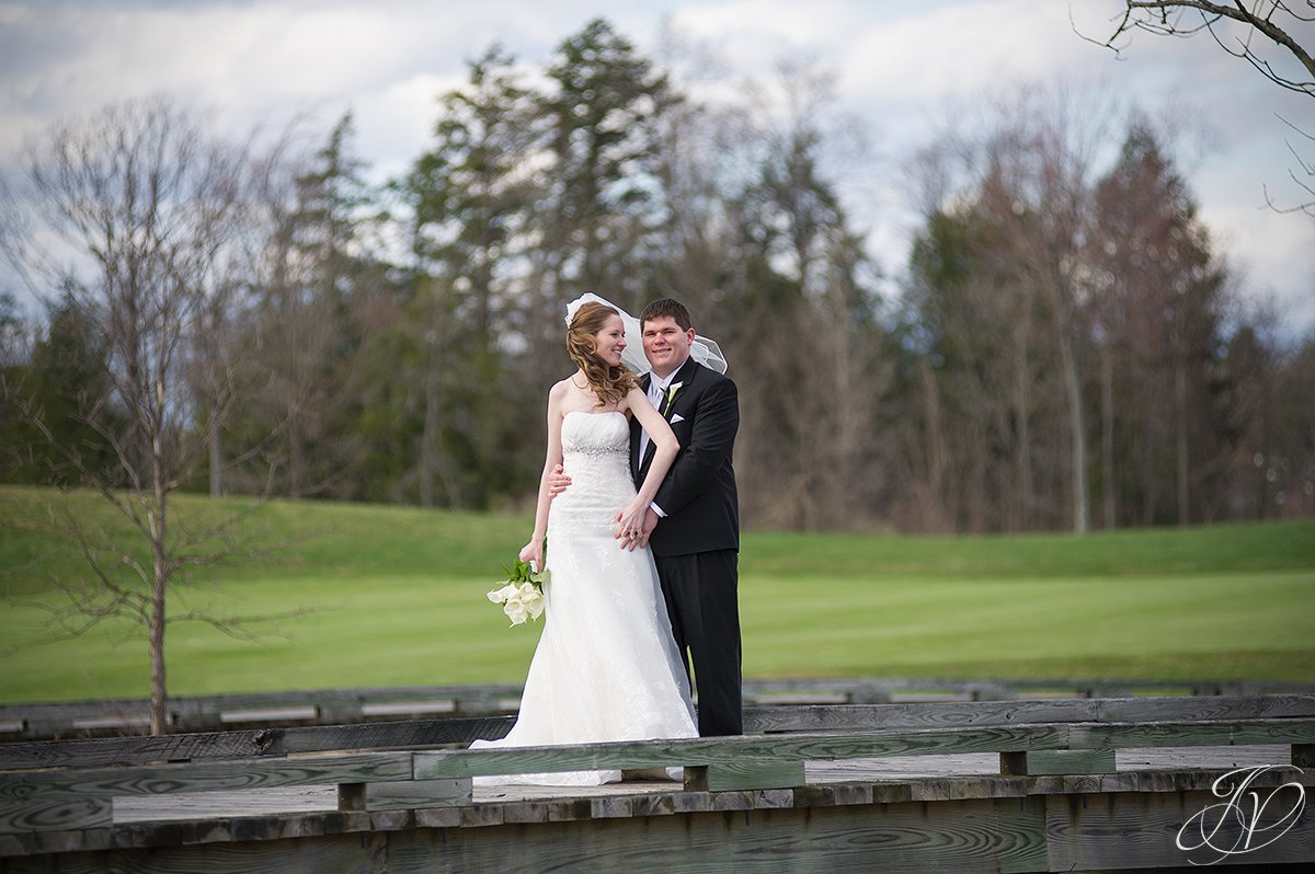 bride and groom candid, bride and groom on bridge photo, Saratoga National Golf Club wedding, Saratoga Wedding Photographer, wedding photographer saratoga ny
