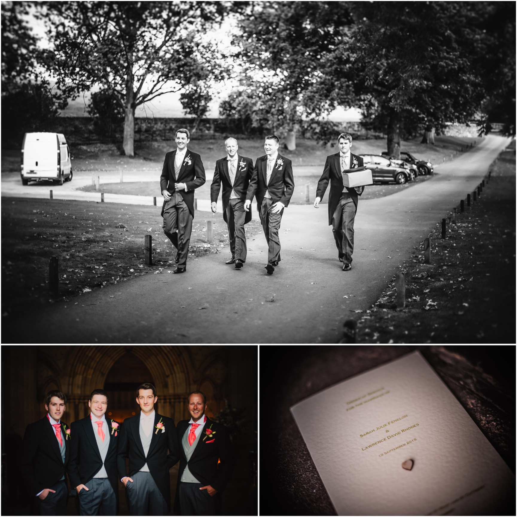 Lancashire photography of groom and his ushers