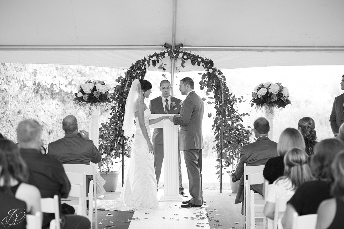 ring exchange during ceremony