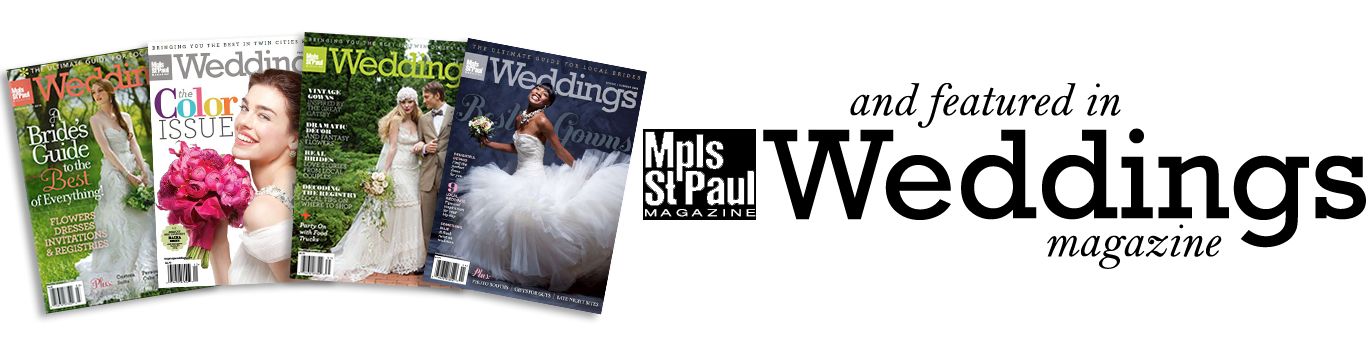 MN wedding photography in magazines