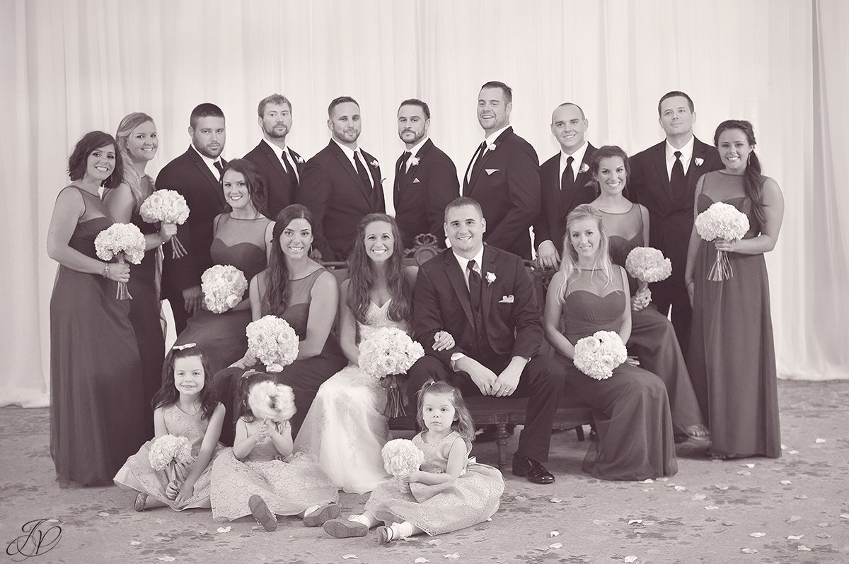 classic bridal portrait vintage black and white canfield casino