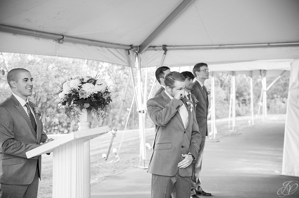 groom seeing bride for the first time albany wedding photographer