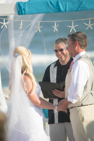 Dr. Dave the officiant