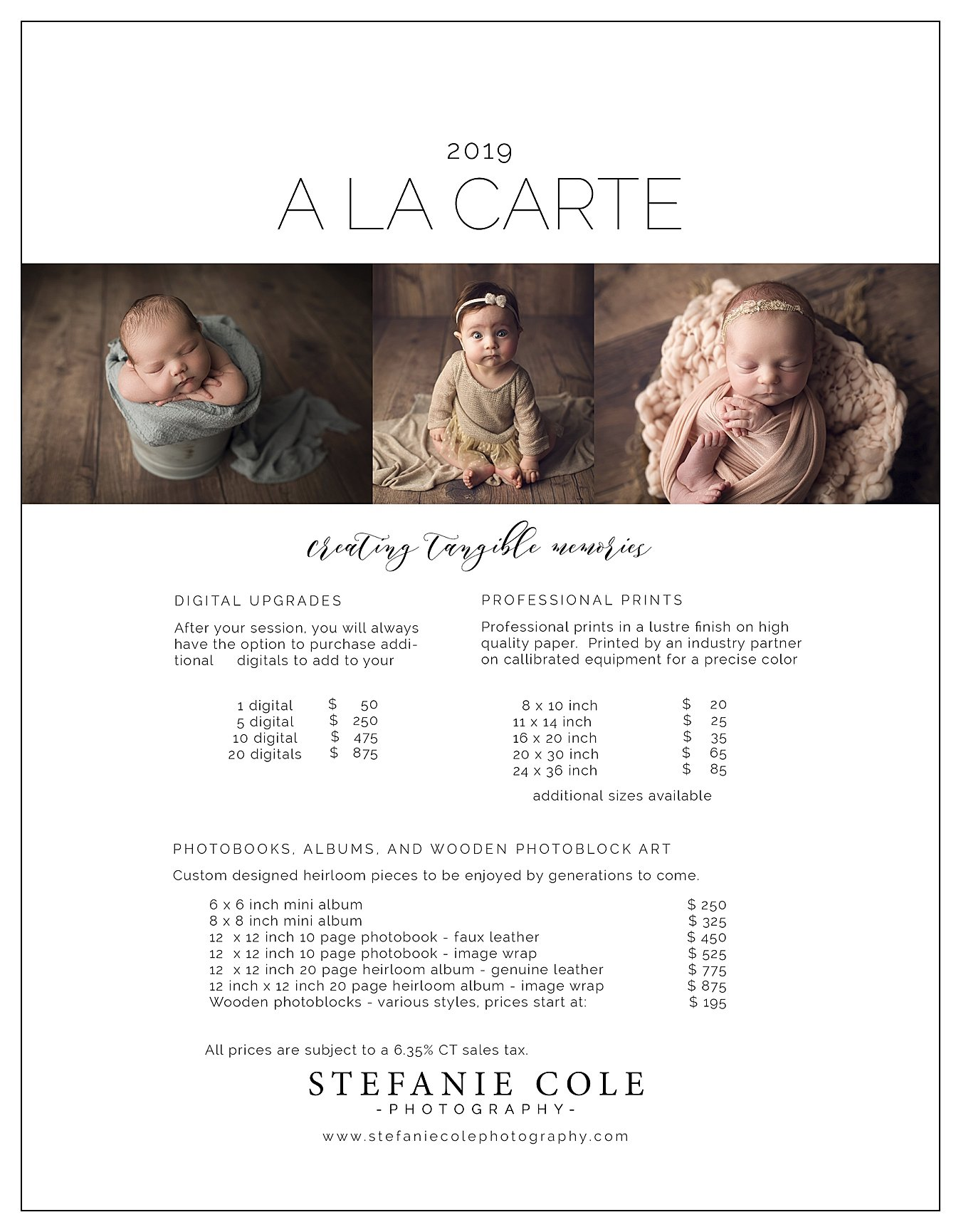 PRICING - Stefanie Cole Photography
