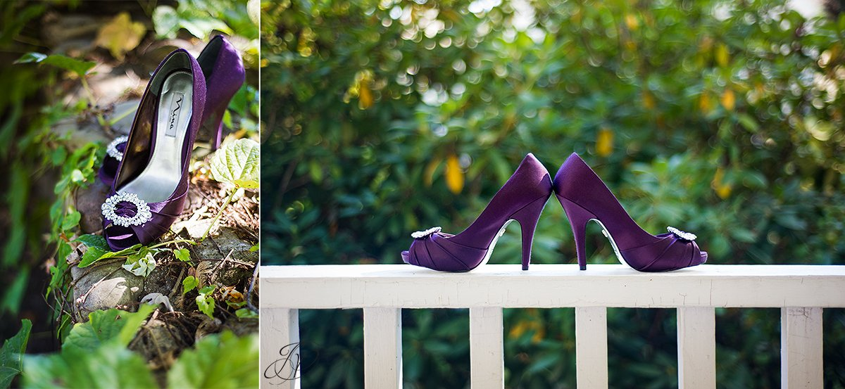 purple wedding shoes jessica painter photography