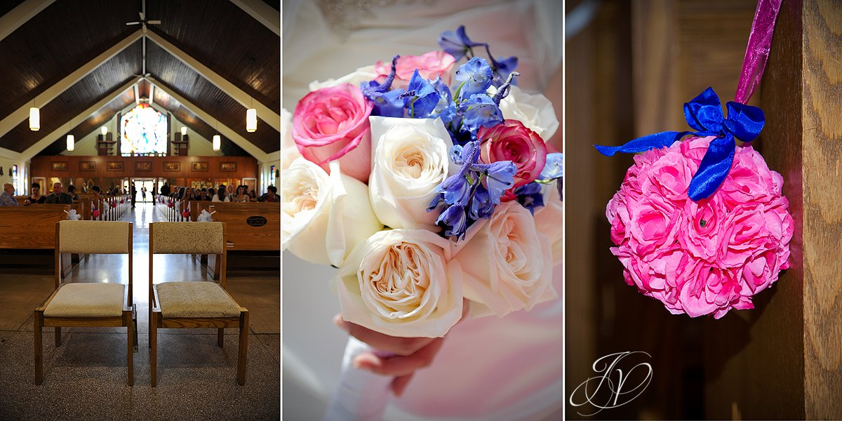 church and flowers photo, Schenectady Wedding Photographer, Waters Edge Lighthouse