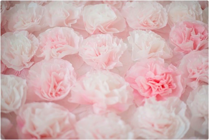 How to make a paper flower backdrop