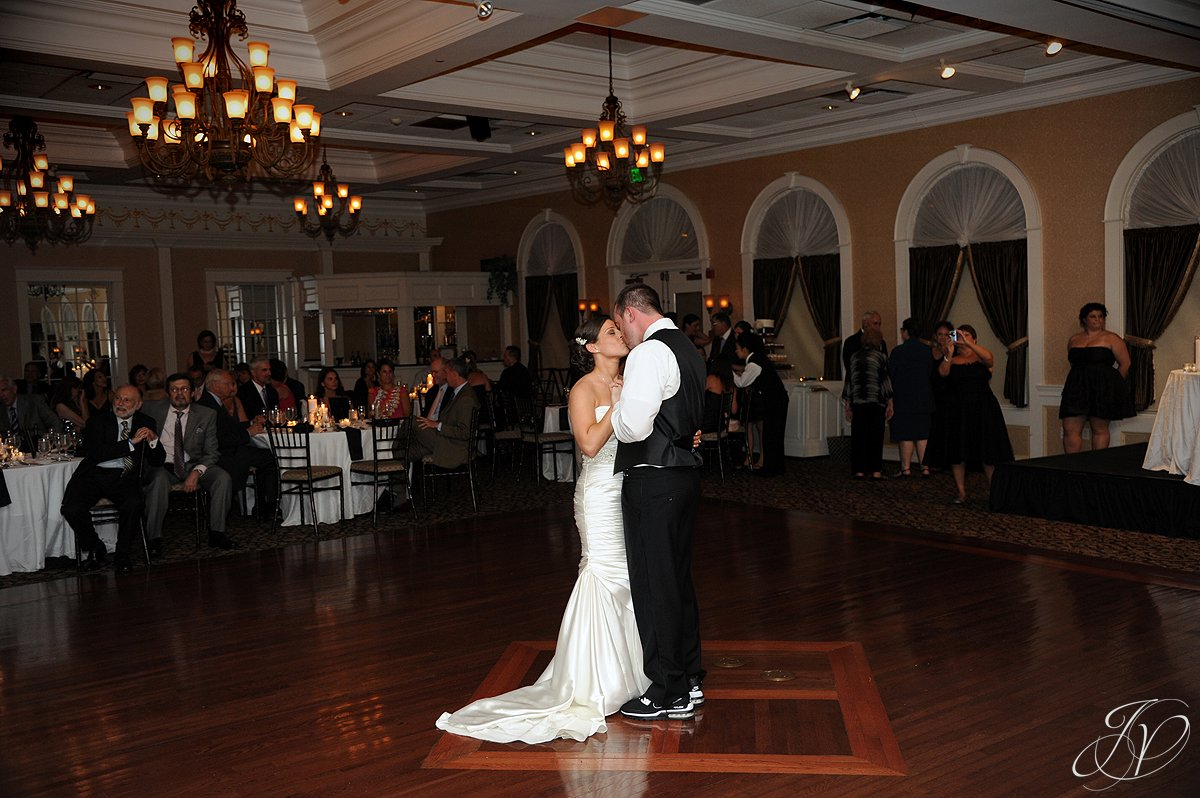 first dance photo, wedding party dancing, The Glen Sanders Mansion, Albany Wedding Photographer, reception hall photo