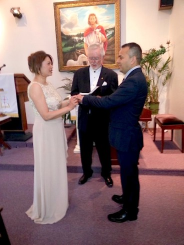 Rev Paul is the officiant performing a private wedding ceremony in Fort Worth