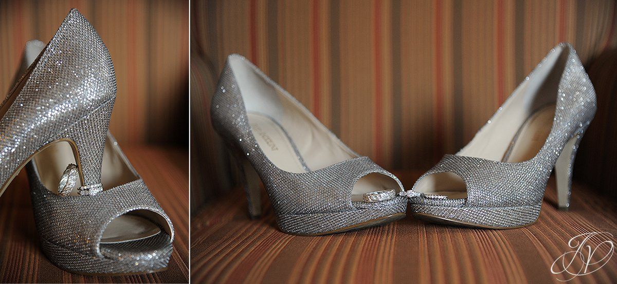 wedding shoe photos, wedding ring detail photo, wedding at mabee Farms, Key Hall Proctors reception, Schenectady Wedding Photographer