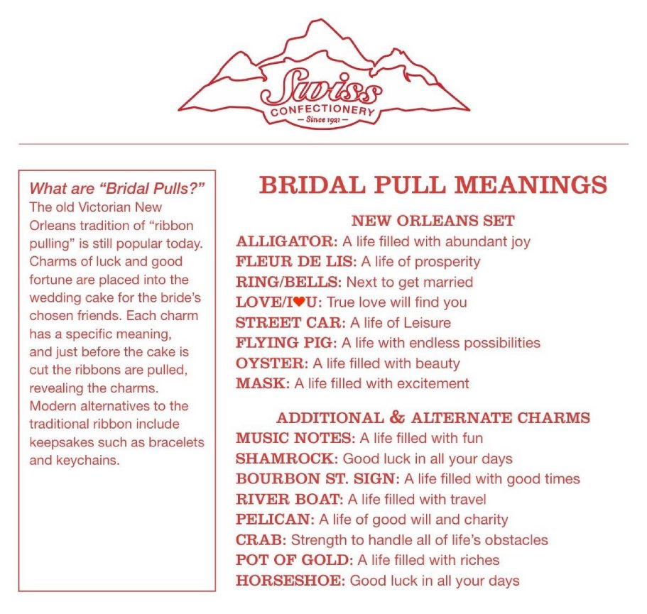 wedding tip number 10/ bridal pull meanings