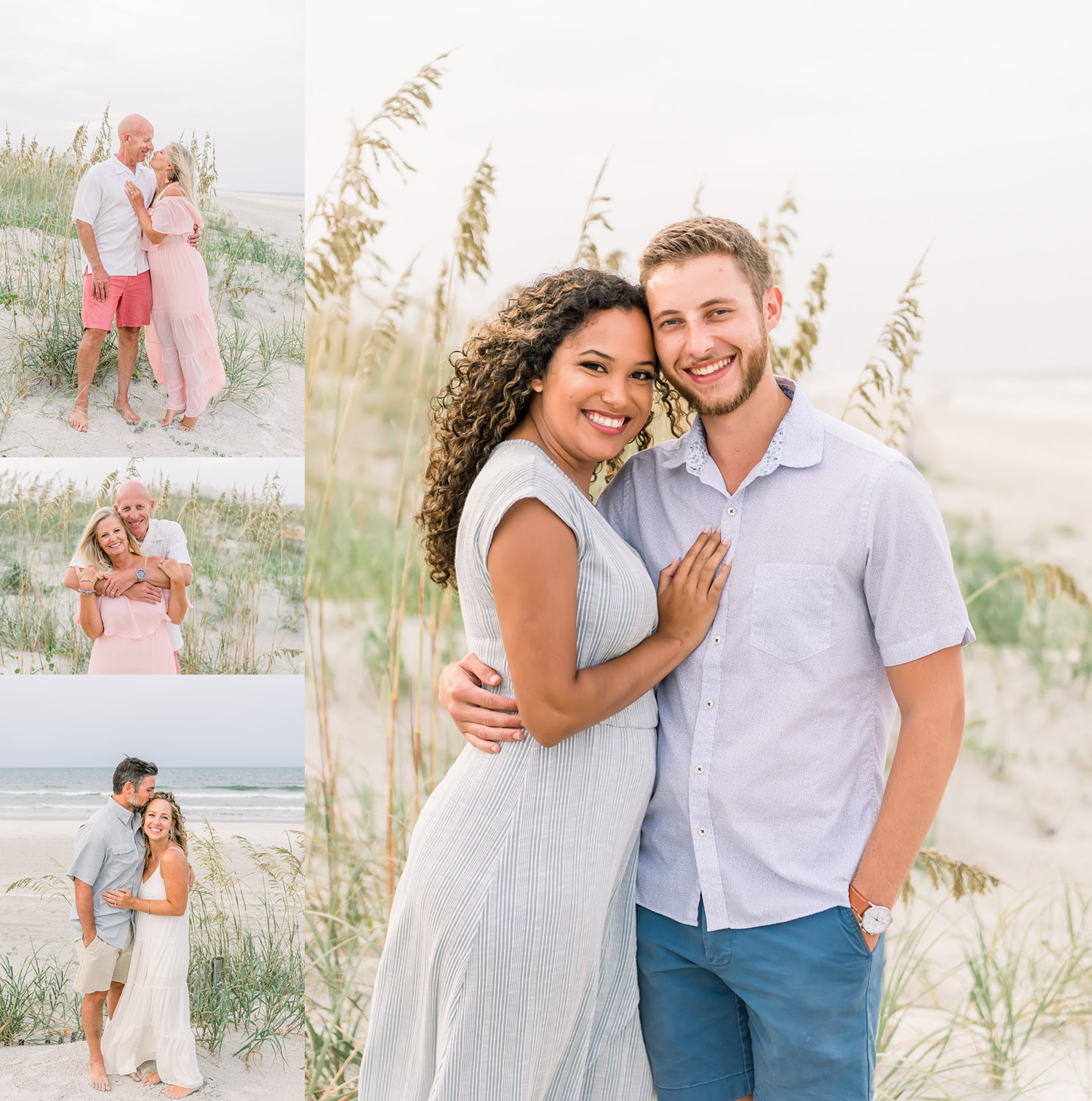 extended family couples portrait photography, St. Augustine Beach, FL